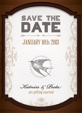 Mahogany Save The Date Front