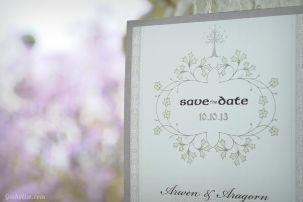 My Preciousss Save the Date - elves sure are elegant.