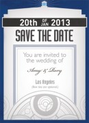 Timey Wimey Save the Date Front
