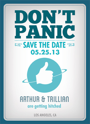Forty Two Reasons Save the Date Front