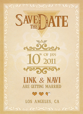 Legendary Save the Date Front