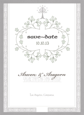 My Preciousss Save The Date Front